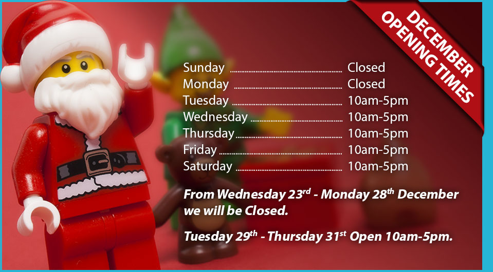 Minifigs and Bricks Lego shop York December Christmas opening times 2020